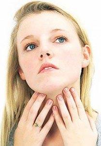 Увеличение лимфоузлов шеи