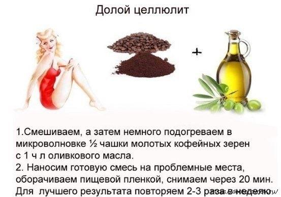 Кофейный скраб при целлюлите