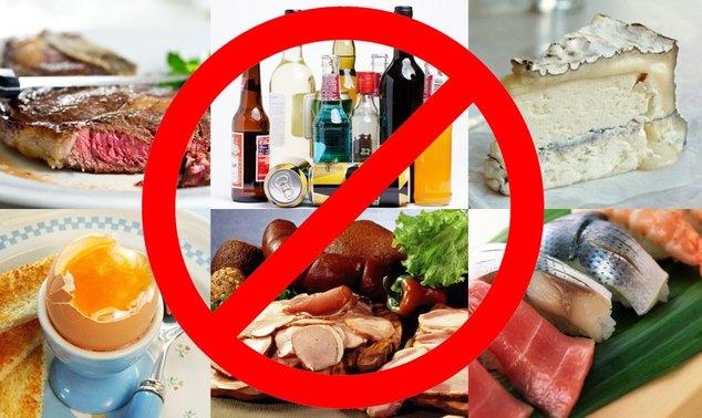 запрещено употребление жирной рыбы